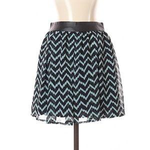 BCBG Chevron Chiffon Skirt